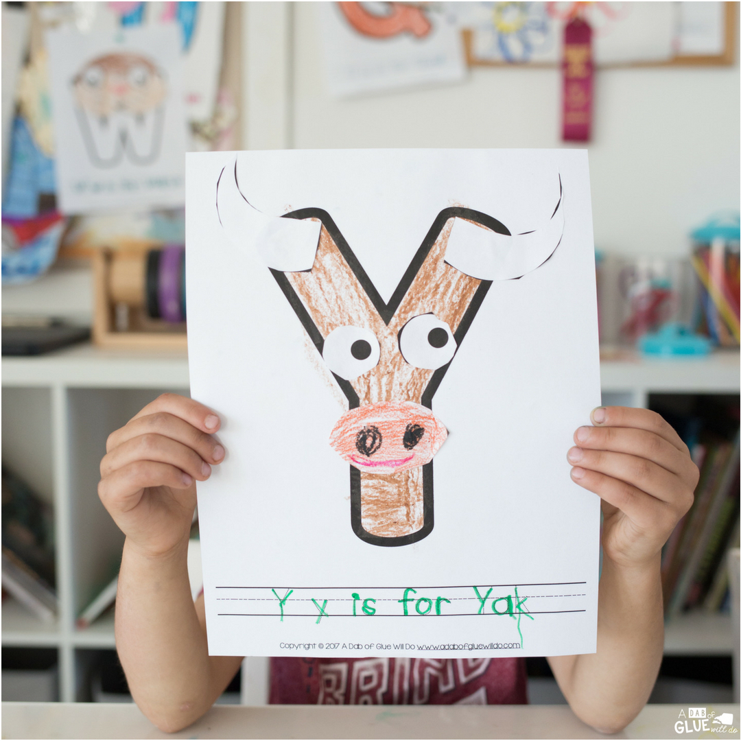 I've created this Animal Alphabet Y is for Yak Craft for our early learners. It's a fun way to get kids learning without realizing they're learning.