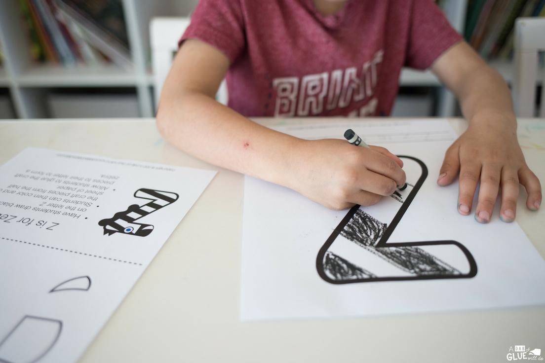 Animal Alphabet Z is for Zebra Craft -