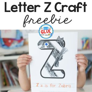 Students love learning and reviewing their letters with craftivities like this Animal Alphabet Z is for Zebra Craft. Fun hands-on learning!