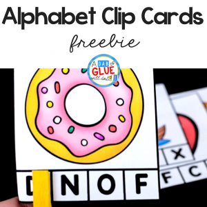 Alphabet Clip Card Printable
