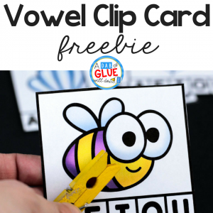Vowel Clip Card Printable Freebie