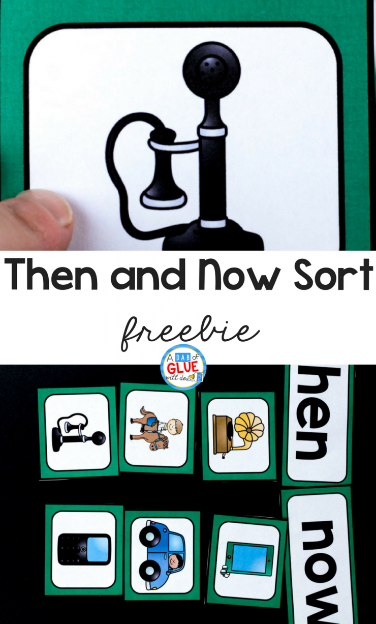 Your students are going to LOVE using this Then and Now sort freebie! Perfect for working on social studies skills in your early learning classroom.