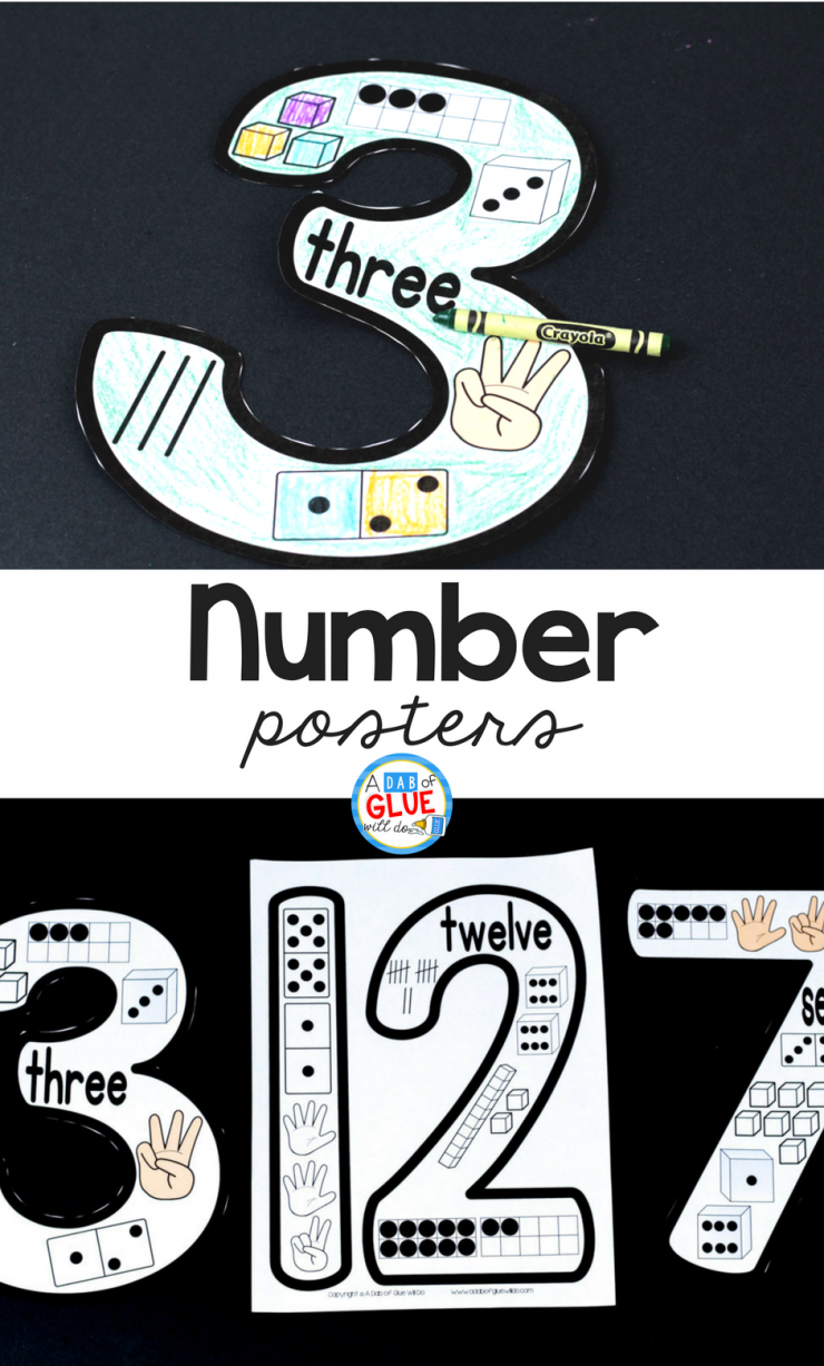 Your students are going to LOVE these printable number posters!