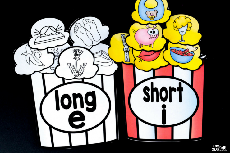 Save money when you print this popcorn middle sound match up in black & white! Your students are going to LOVE it.