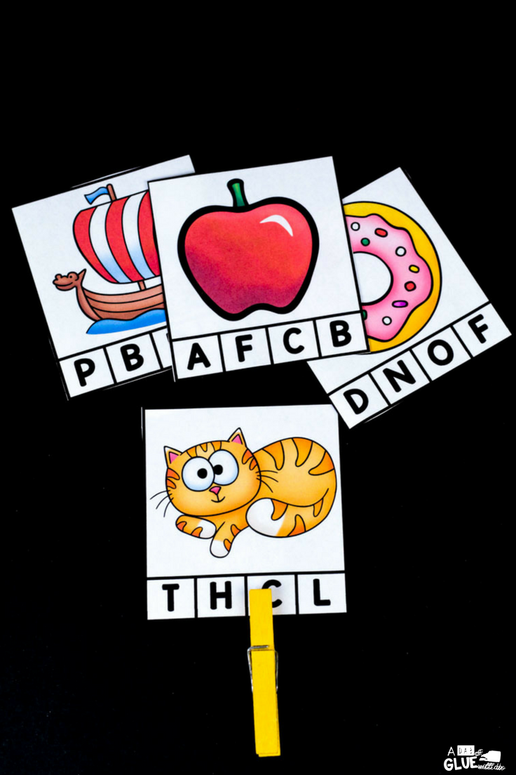 Your students will LOVE these alphabet clip cards! A fun and hands-on way to reinforce letters.