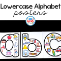 Your students are going to LOVE these lowercase alphabet posters! Perfect for students who are learning the difference between upper and lowercase letters.
