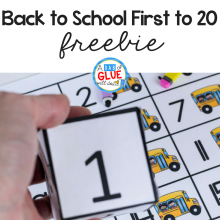 Back to School First to 20