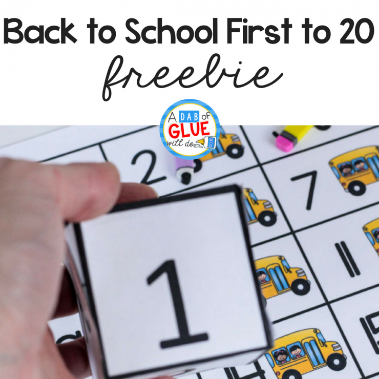 Your students are going to absolutely LOVE this Back to School First to 20 game! Perfect for working on early math skills.