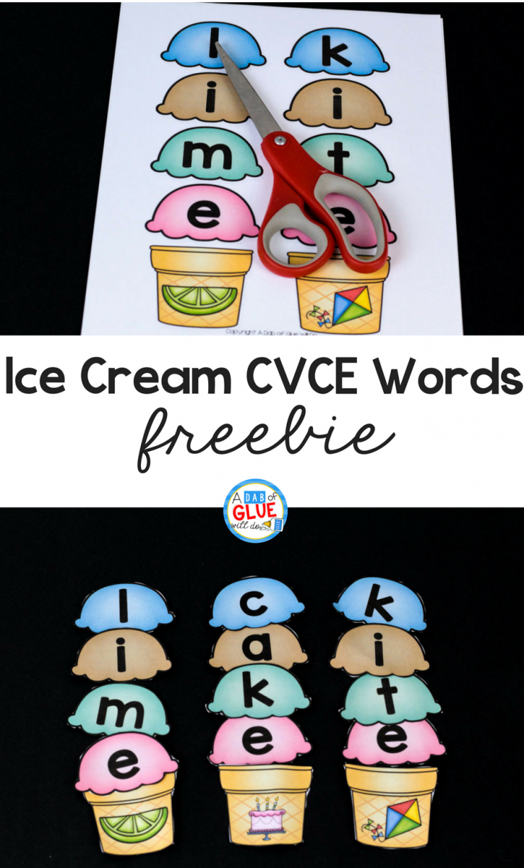 When learning is FUN, students are more engaged. Your little learners are absolutely going to LOVE using this Ice Cream CVCE word building activity in your early literacy center.