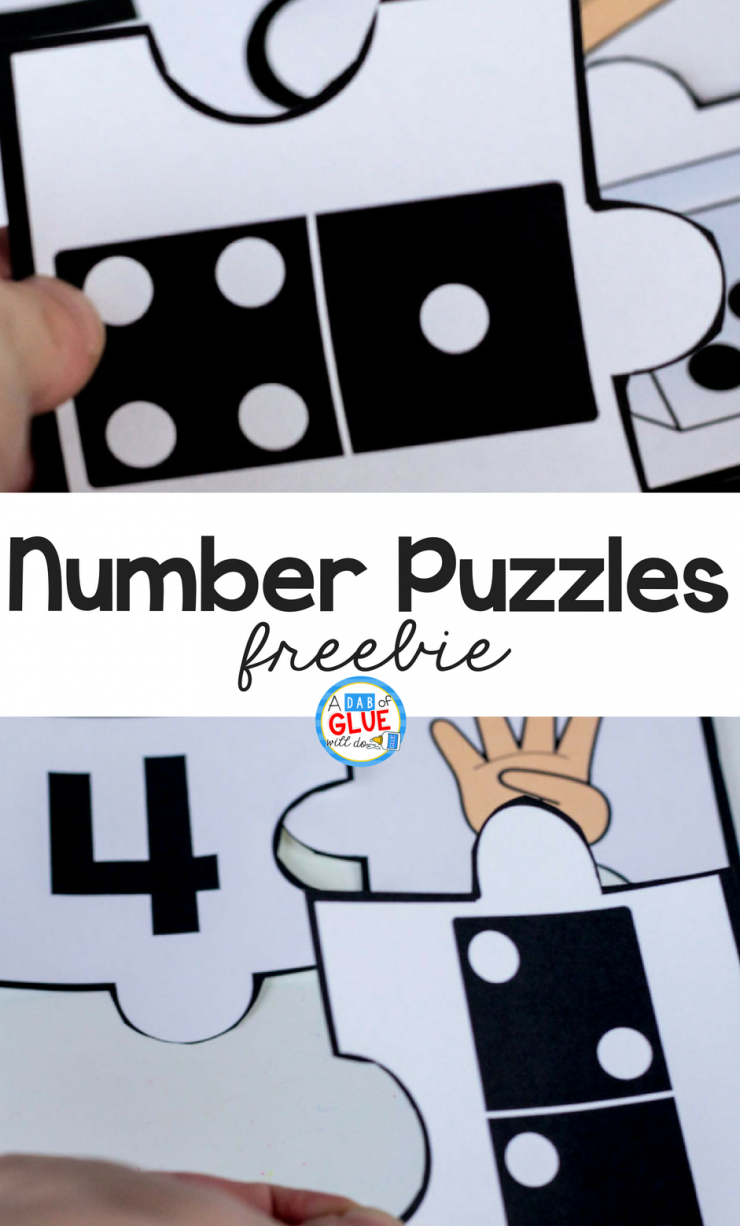 Your students are going to LOVE using these number puzzles in your math center! Perfect for little learners who are just being introduced to numbers.