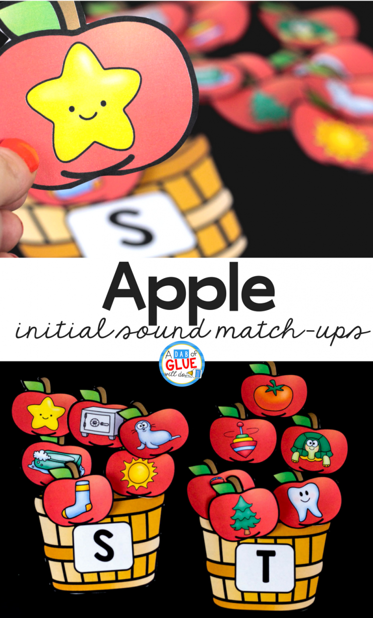 Your students are going to LOVE using this apple initial sound match up in your early literacy center! Perfect for learning or reviewing letters with your PreK, Kindergarten, or First Grade students.