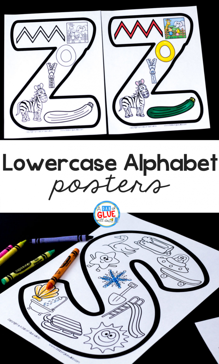 Your students are going to LOVE having these lowercase alphabet posters in your classroom! Perfect for your early learners who are learning the difference between upper and lower case.