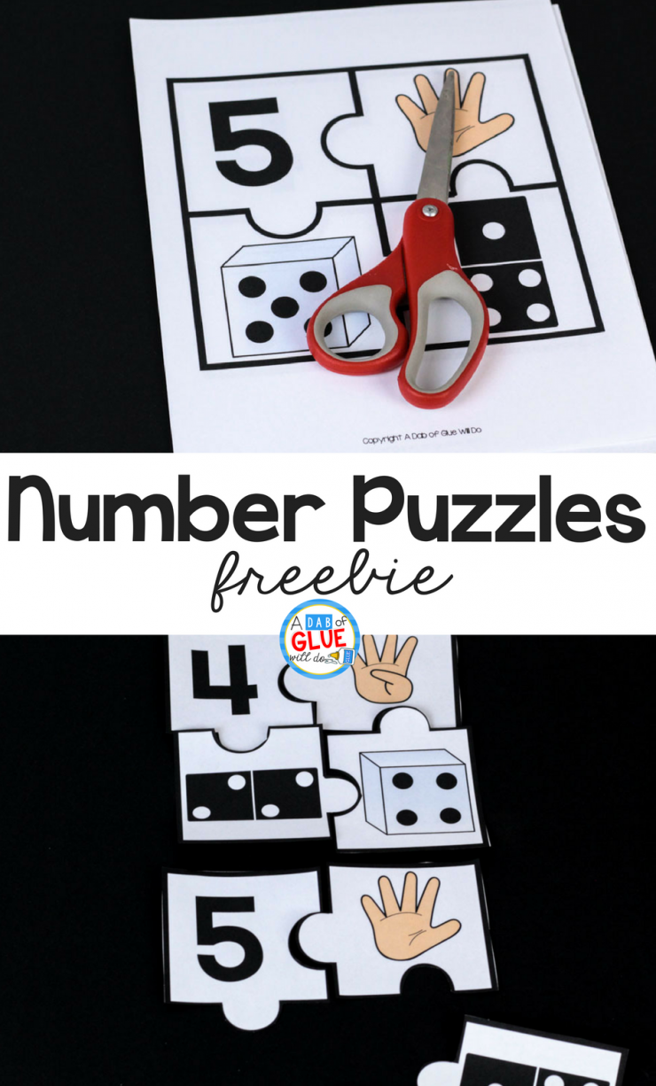 Number Puzzles Math Freebie