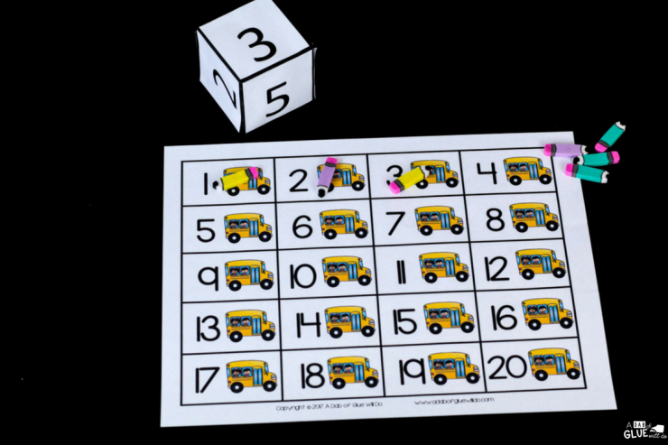 Learning math is so much FUN when you implement Back to School First to 20 in your PreK, Kindergarten, or First Grade classroom! Your students are going to LOVE it!