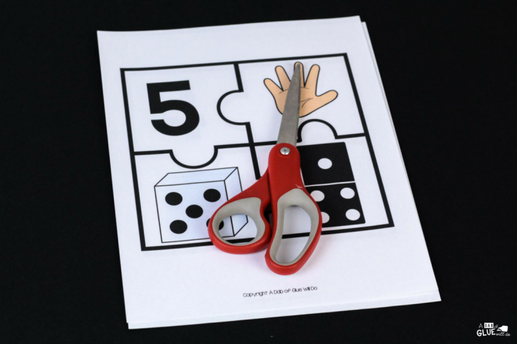These number puzzles are the PERFECT addition to your math center in your PreK, Kindergarten, or First Grade classroom!