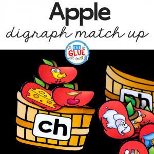Your students will love this Apple Digraph match up!