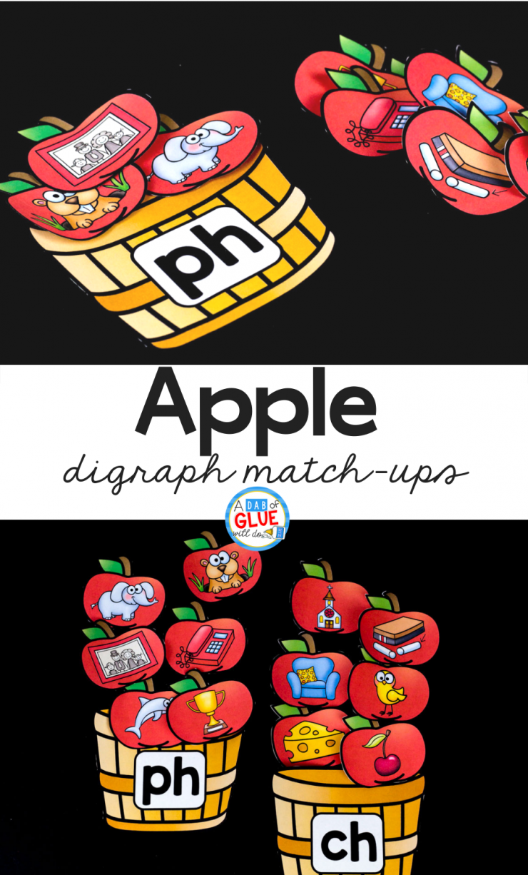 Your students are going to LOVE using this apple digraph match ups in your early literacy center! Perfect for your Kindergarten, PreK, or First Grade classroom.