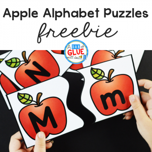 Apple Alphabet Puzzles Freebie