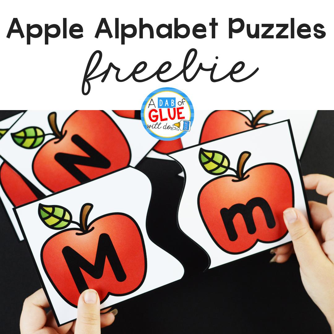 Apple Alphabet Puzzles Freebie
