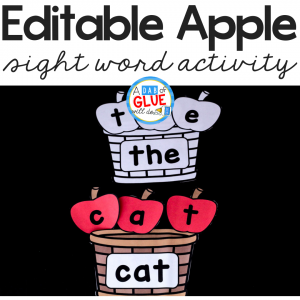 This Apple Editable Sight Word Activity will make reviewing sight words fun! Engage students in learning with this hands-onEDITABLE sight word game.