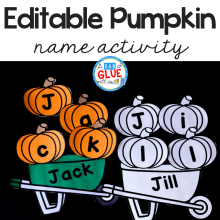 Pumpkin Editable Name Activity