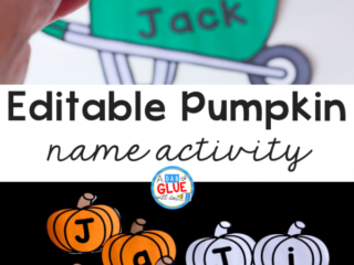 This Pumpkin Editable Name Activityis the perfect way for kids recognize and practice buildingtheir name in a fun hands-on way!