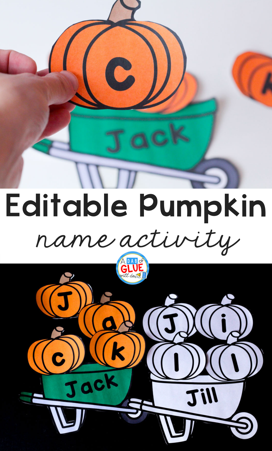 Pumpkin Editable Name Activity