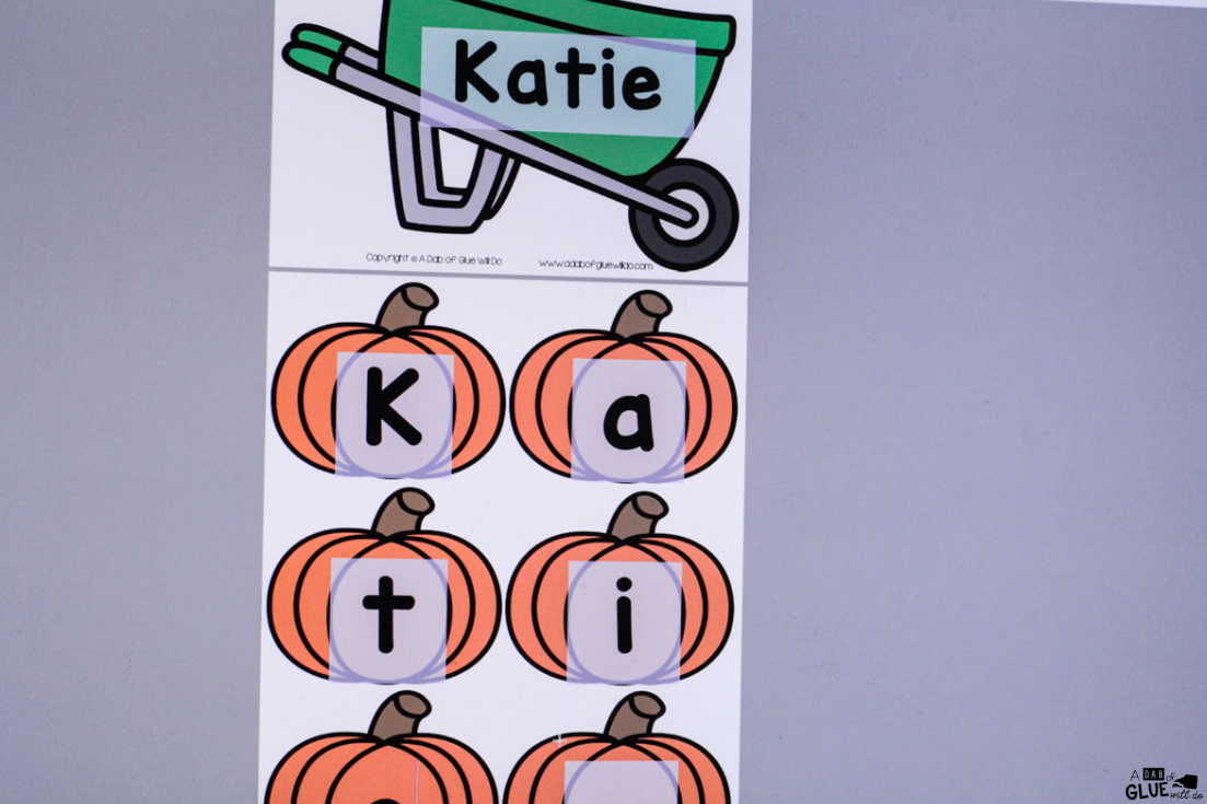 This Pumpkin Editable Name Activity is the perfect way for kids recognize and practice building their name in a fun hands-on way!
