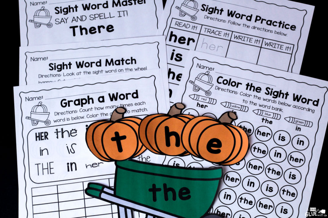 This Pumpkin Editable Sight Word Activity is an exciting way for students to master their sight words so they can become faster and more fluent readers!