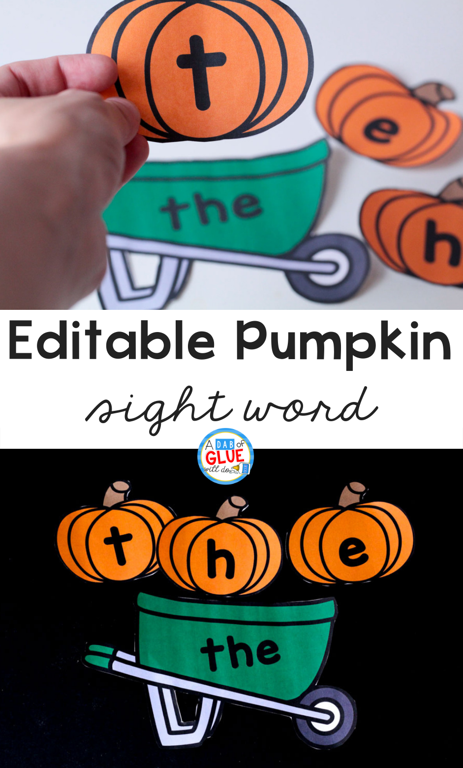 Pumpkin Editable Sight Word Activity
