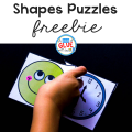 This Shapes Puzzles Printable is an enjoyable hands-on way for your students to learn their shapes. Incorporates learning and doing, while having fun!