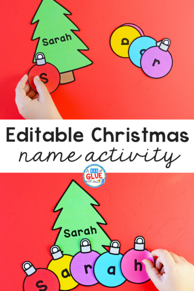 Students feel accomplished when they master spelling their name with this Christmas Editable Name Activity and worksheets.