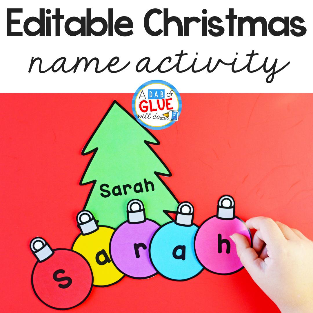 Christmas Editable Name Activity