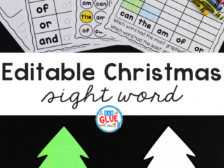 This Christmas Editable Sight Word Activity helps our little learners to review their sight wordsin an enjoyable hands-on way!