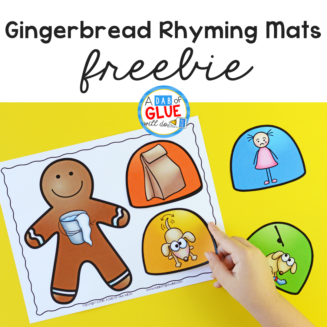 Gingerbread Rhyming Mats