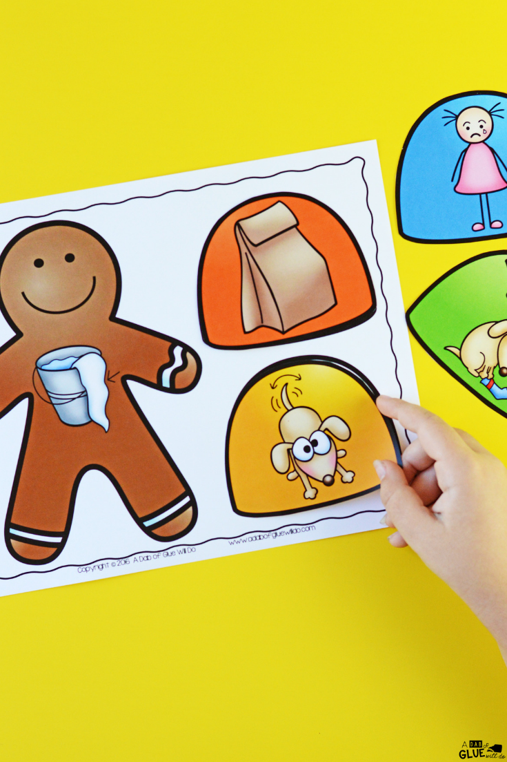Use this Gingerbread Rhyming Mats Activity to help our preschool and kindergarten students build their phonological awareness in a hands-on way.