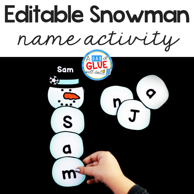 I've created this SnowmanEditable Name Activityso our kids can practice buildingtheir name in an enjoyable hands-on way!
