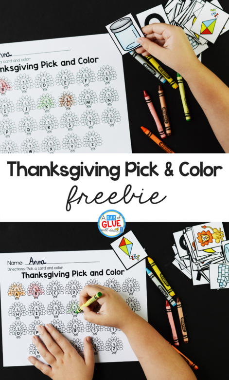 Thanksgiving Pick and Color Printable