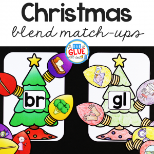 This Christmas Blends Match-Up is perfect for students to practice blending together individual sounds within words in a hands-on way!
