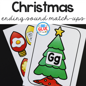 Christmas Ending Sound Match-Up helps students to segment sounds and phonemes at the ending of words in an enjoyable hands-on way!