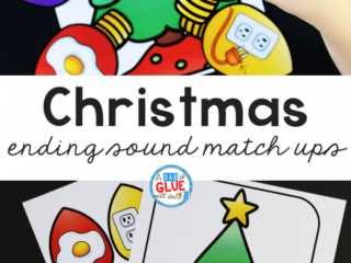 Christmas Ending Sound Match-Up helps students to segmentsounds and phonemes at the ending of words in an enjoyable hands-on way!