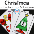 This Christmas Number Match-Up helps students to develop confidence in number sense so they build a strong foundation in math skills.