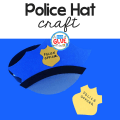 This Paper Police Hat Craft is a fun activity as we get ready for Law Enforcement Appreciation Day or when we talk about careers in our community.