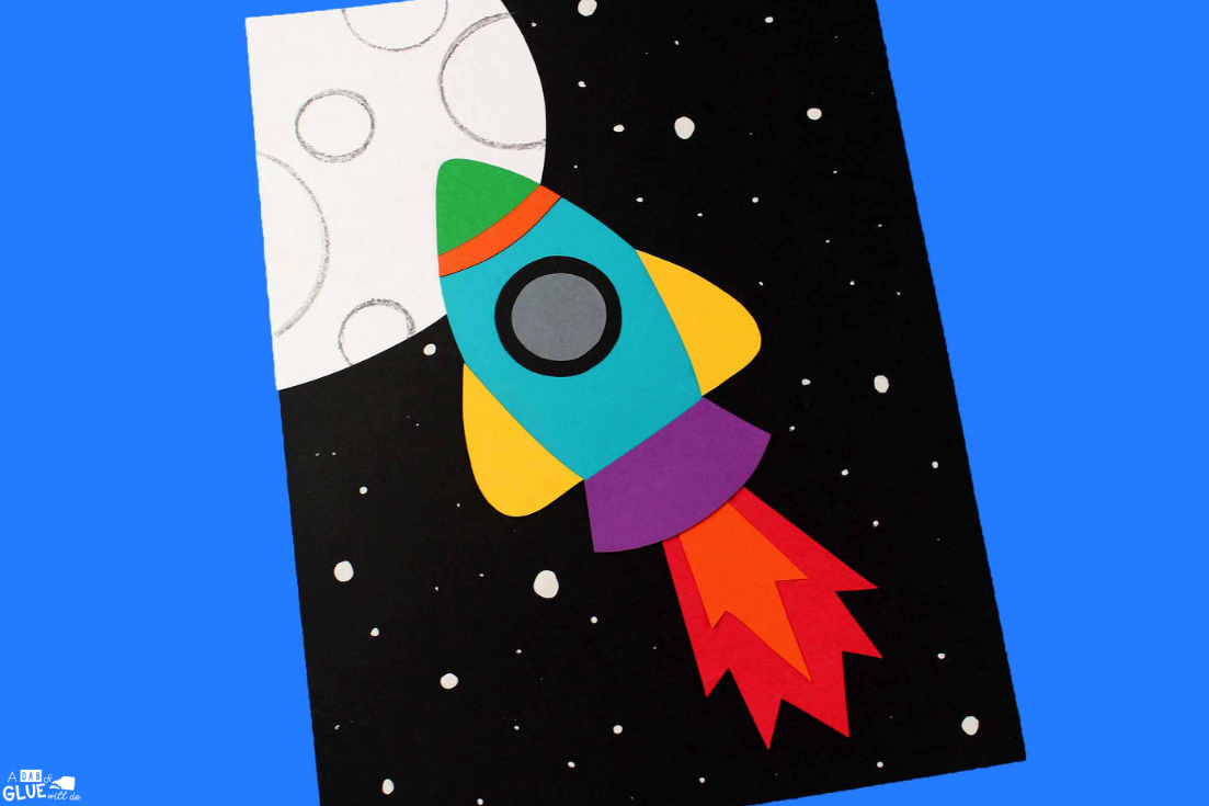 Use this Paper Rocket Craft with your little learners during your science units or during arts and crafts time. Perfect to practice fine motor skills.