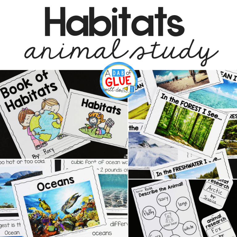 I've created this Animal Habitats Science Unit so our students can learn and research about 7 different animal habitats in a hands-on way.
