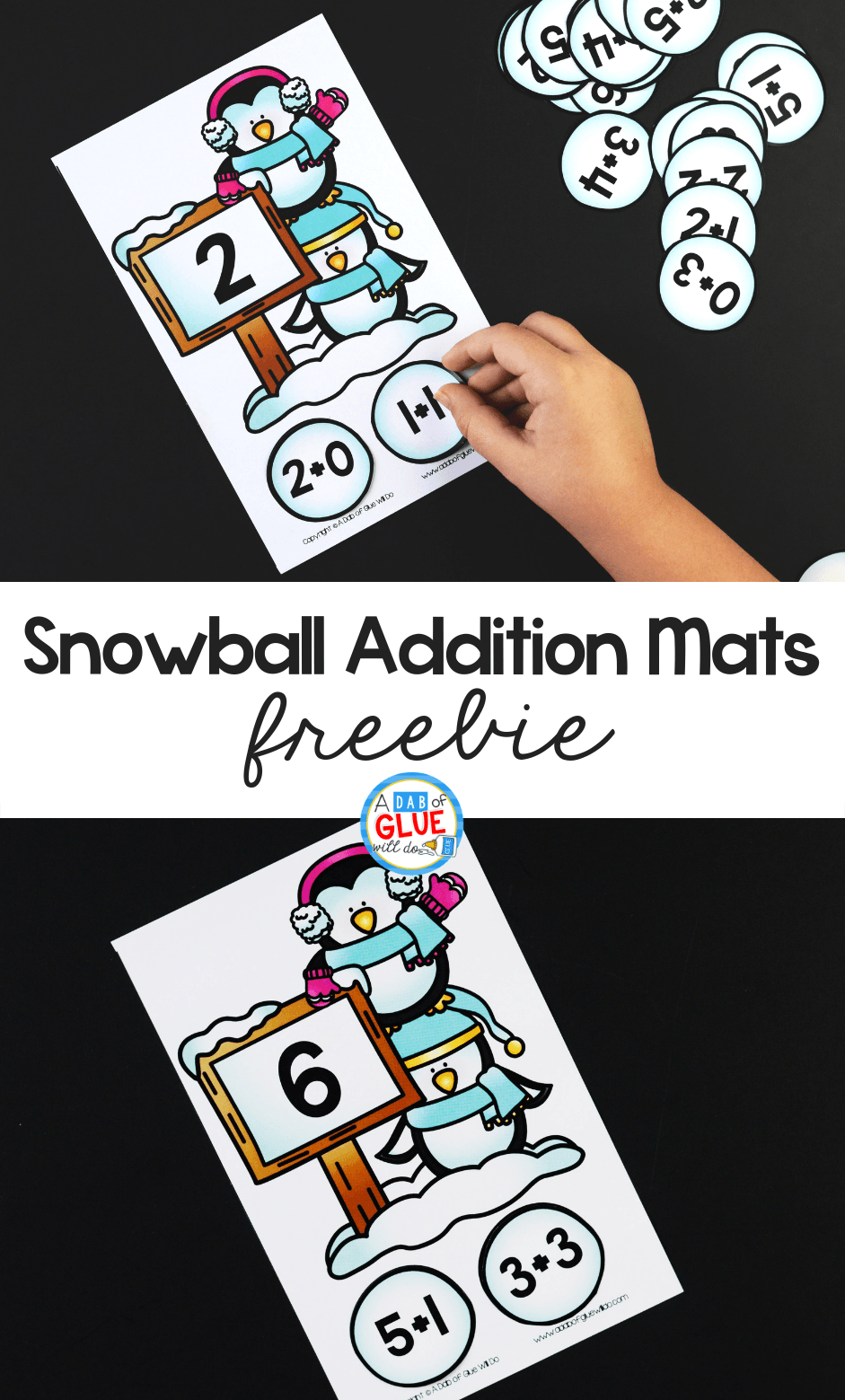 Snowball Addition Puzzles
