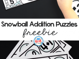 This Snowball Addition Puzzles activity helps students learn to count and add manipulatives as they start to understand the concepts behind math problems.