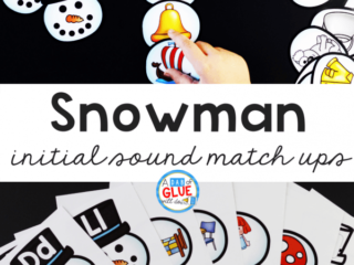 Kids love this SnowmanInitial Sound Match-up. It helps them to learn sounds and phonemes at the beginning of words in an enjoyable hands-on way!