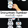 This Snowman Number Match-Up helps students to develop a strong number sense and confidence in numbers as they build a strong foundation in math skills.