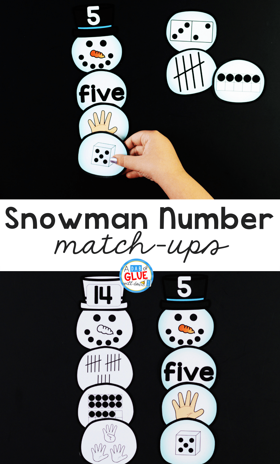 Snowman Number Match-Up